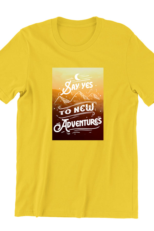 Say Yes To The Adventure Yellow Tshirt