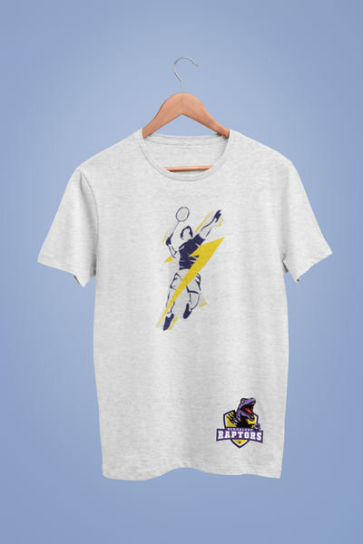 Bengaluru Raptors Lightning Speed Serve White Tshirt