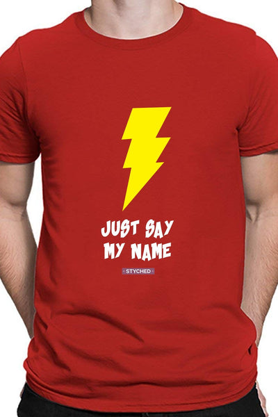 Just Say My Name T-Shirt Red