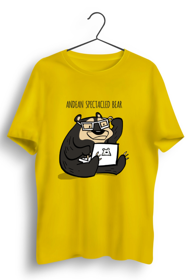 Andean Spectacled Bear Yellow Tshirt
