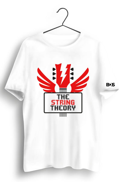The String Theory Graphic Printed White Tshirt