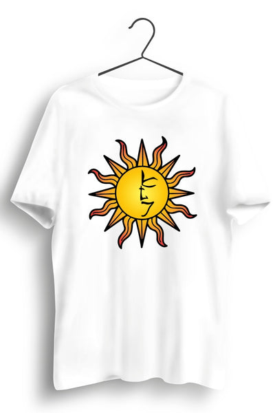 The Tattva Trip Sun Print White Tshirt