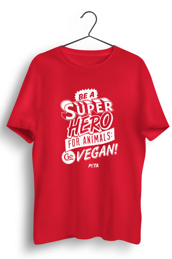 Superhero for Animals Red Tshirt