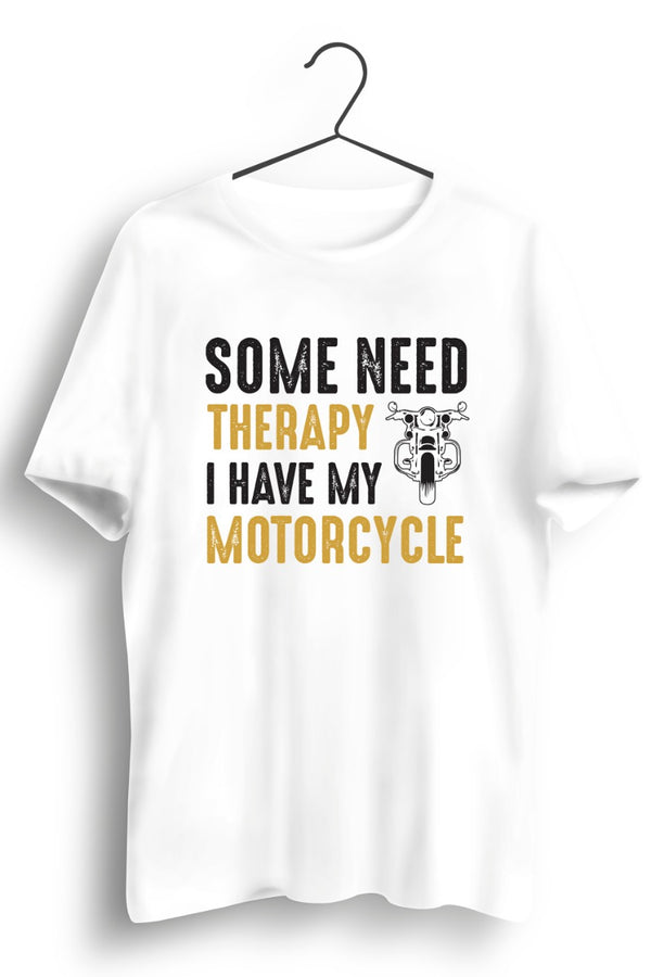 Therapy Motorcycle White Tshirt