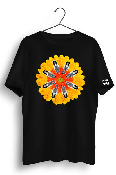 TU Graphic Printed Black Tee
