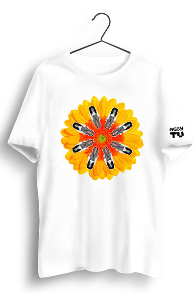 TU Graphic Printed White Tee