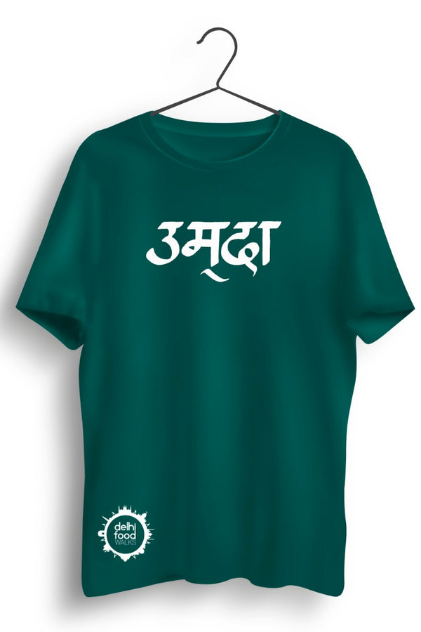 Umda Graphic Printed Green Tshirt