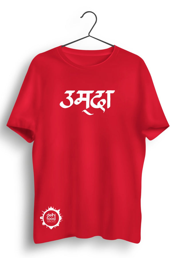 Umda Graphic Printed Red Tshirt