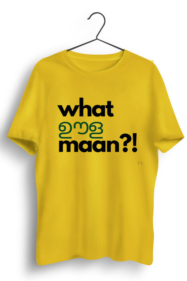 What Oola Maan Yellow Tshirt