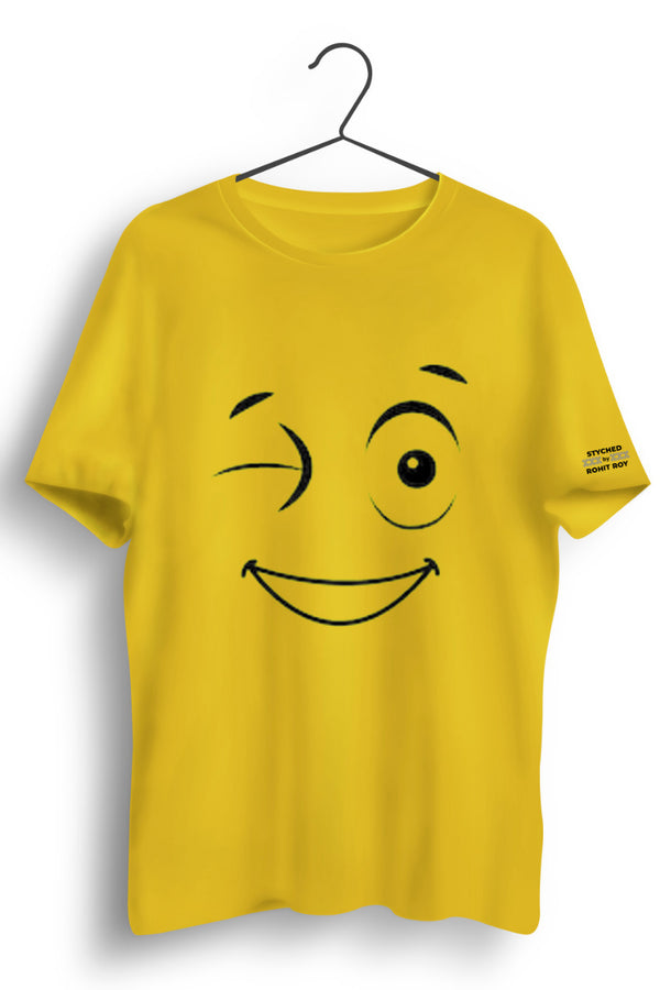 Cute Wink Yellow Tshirt