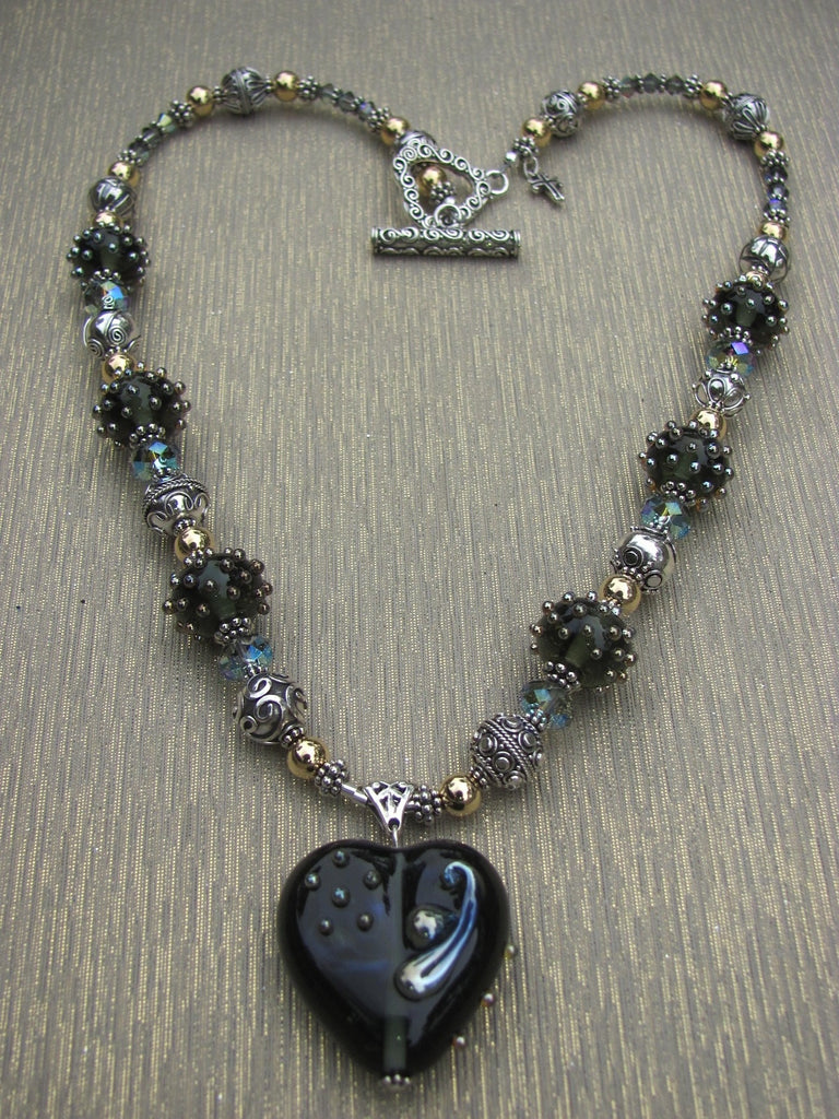 Lavish Love 7 Bead Lampglass Necklace