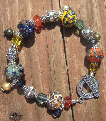 Indian Spices lampglass bracelet