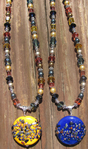 Indian Spices single bead lampglass necklace