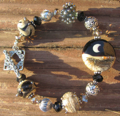 Night Sky 5-bead lampglass bracelet