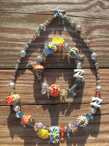 Sanibel Island lampglass necklace