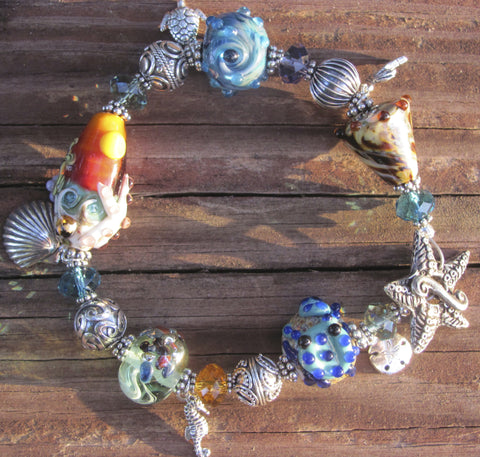 Sanibel Sunset lampglass bracelet