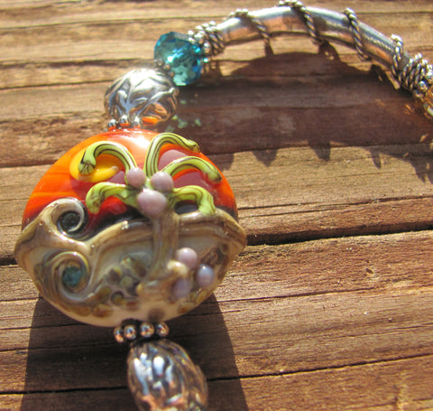 Sanibel Sunset handtooled bracelet