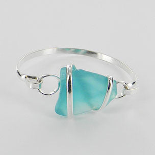 Seaglass Bangle Bracelet