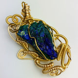 "Azurite Pseudomorphosis to Malachite ""Peace Of Earth"""