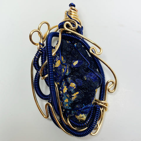 "Azurite on Matrix ""3rd Eye Shield"""