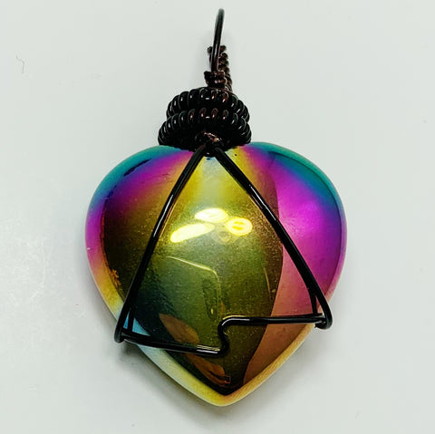 "Titanium Agate ""The Heart"""