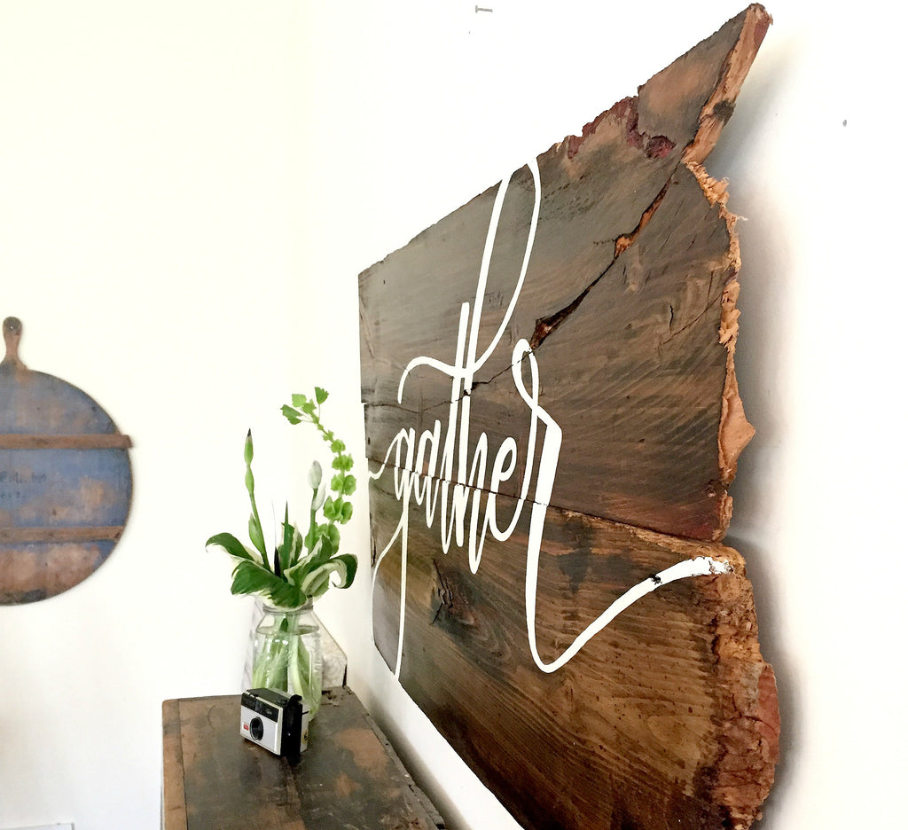 Gather Reclaimed Wood Art