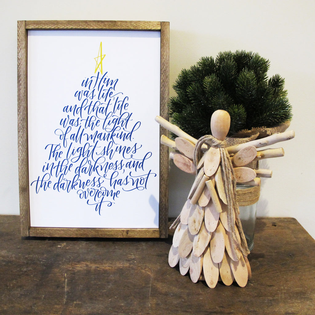 The Light Of All Mankind Christmas Canvas