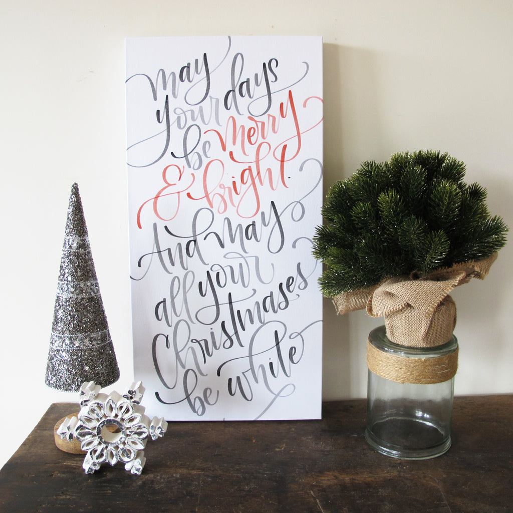 Merry & Bright Christmas Canvas