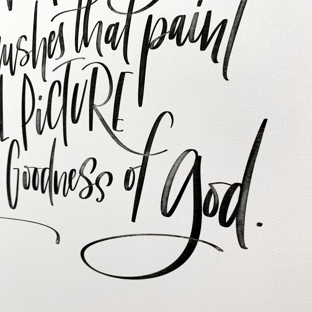 Goodness Of God Blessing Canvas Art