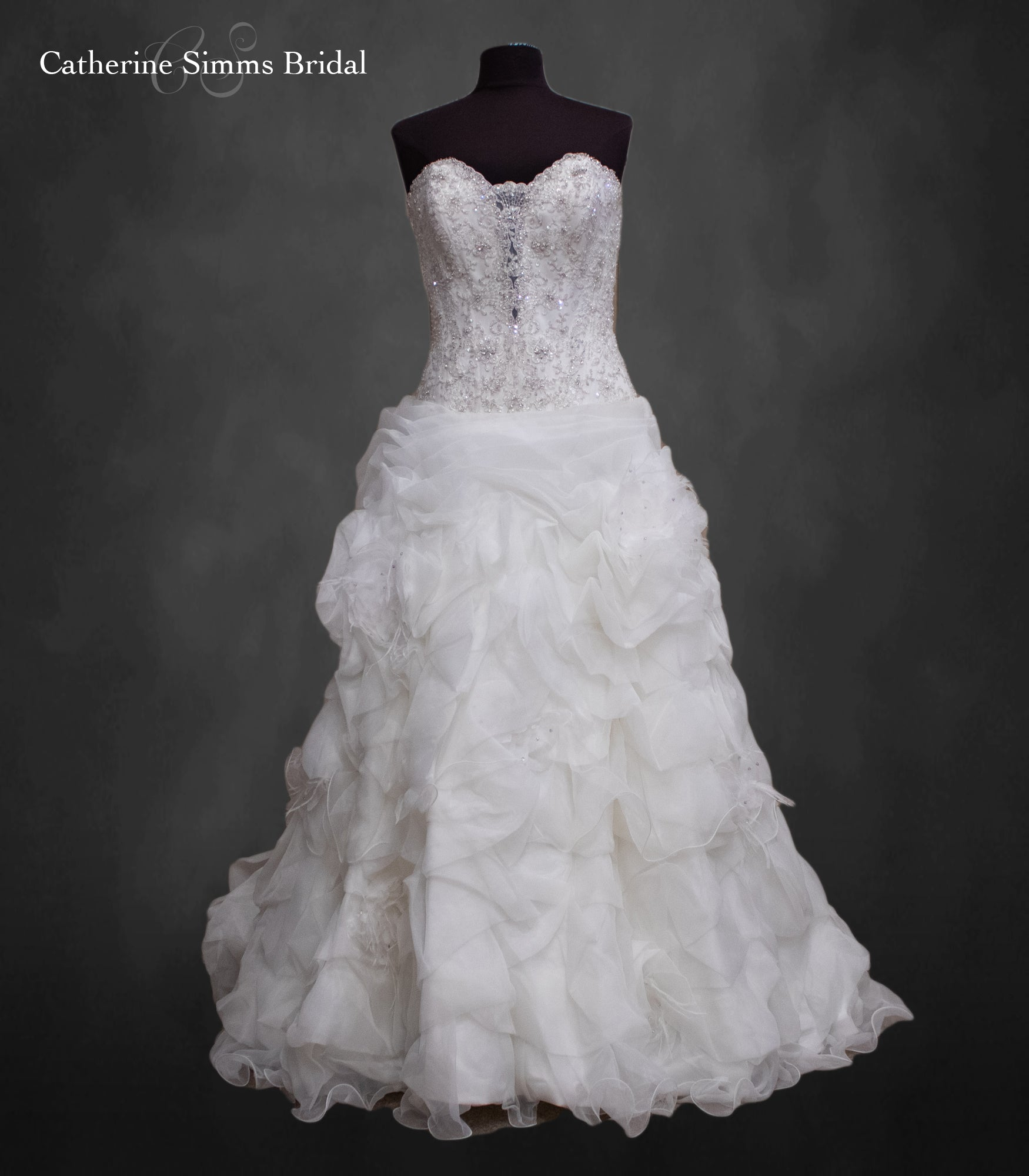 ALLURE Beaded Princess Ball Gown