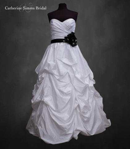 ALFRED ANGELO Black & White Ballgown