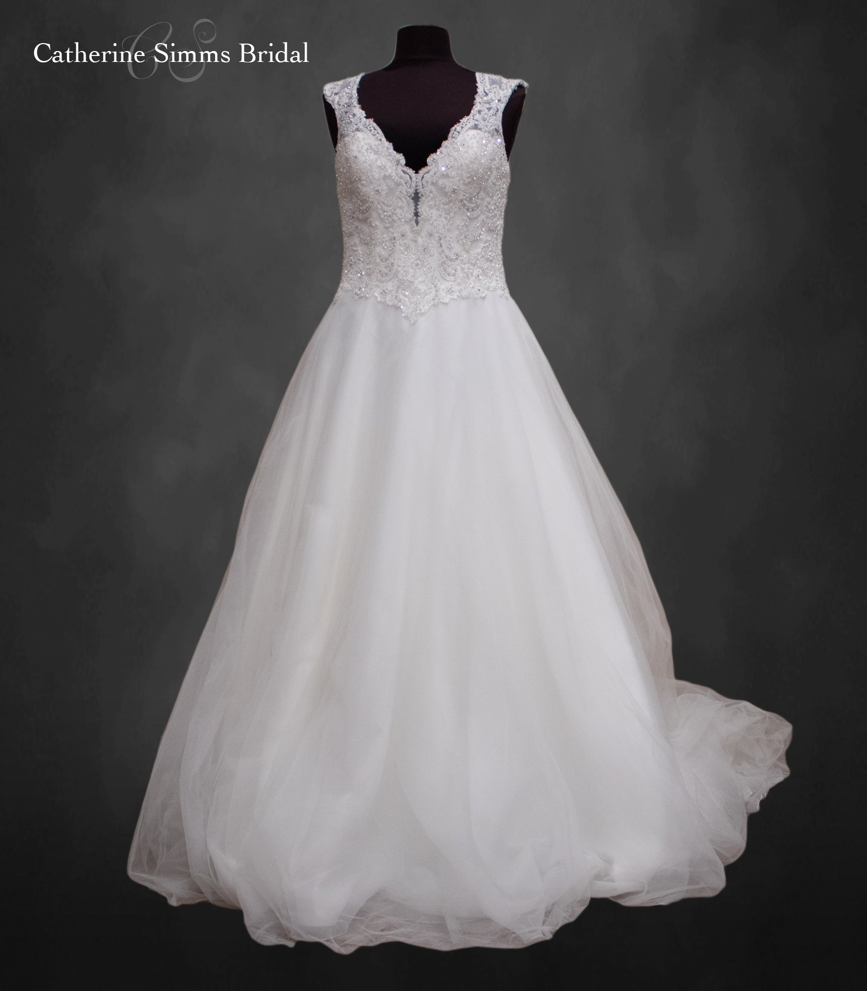 Beaded Top Ballgown