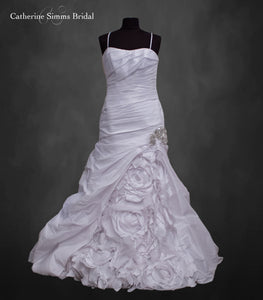 White Ruffled Gown