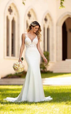 Simple and Sleek Wedding Gown