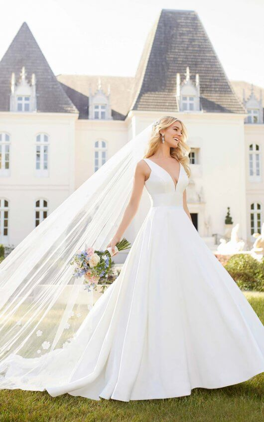 Royal Inspired Simple Wedding Dress By Stella York