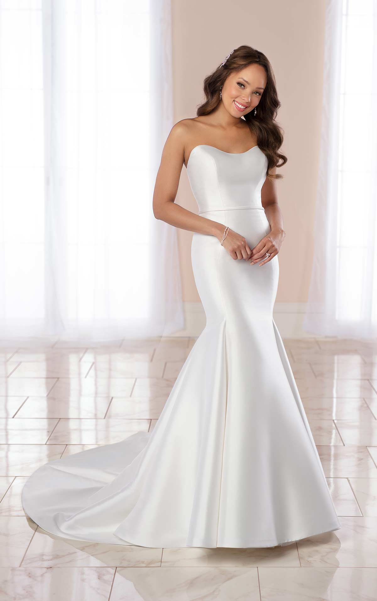 Sleek and Strapless Fit & Flare by Stella York
