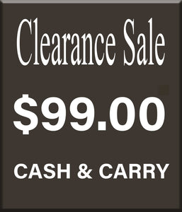 CLEARANCE SALE - AS IS