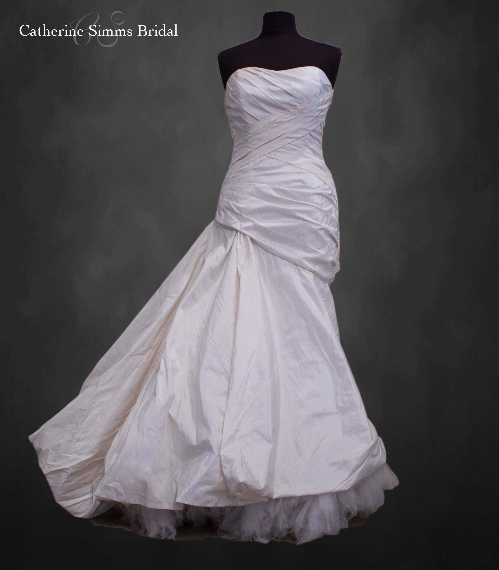 Cream Ruched Gown
