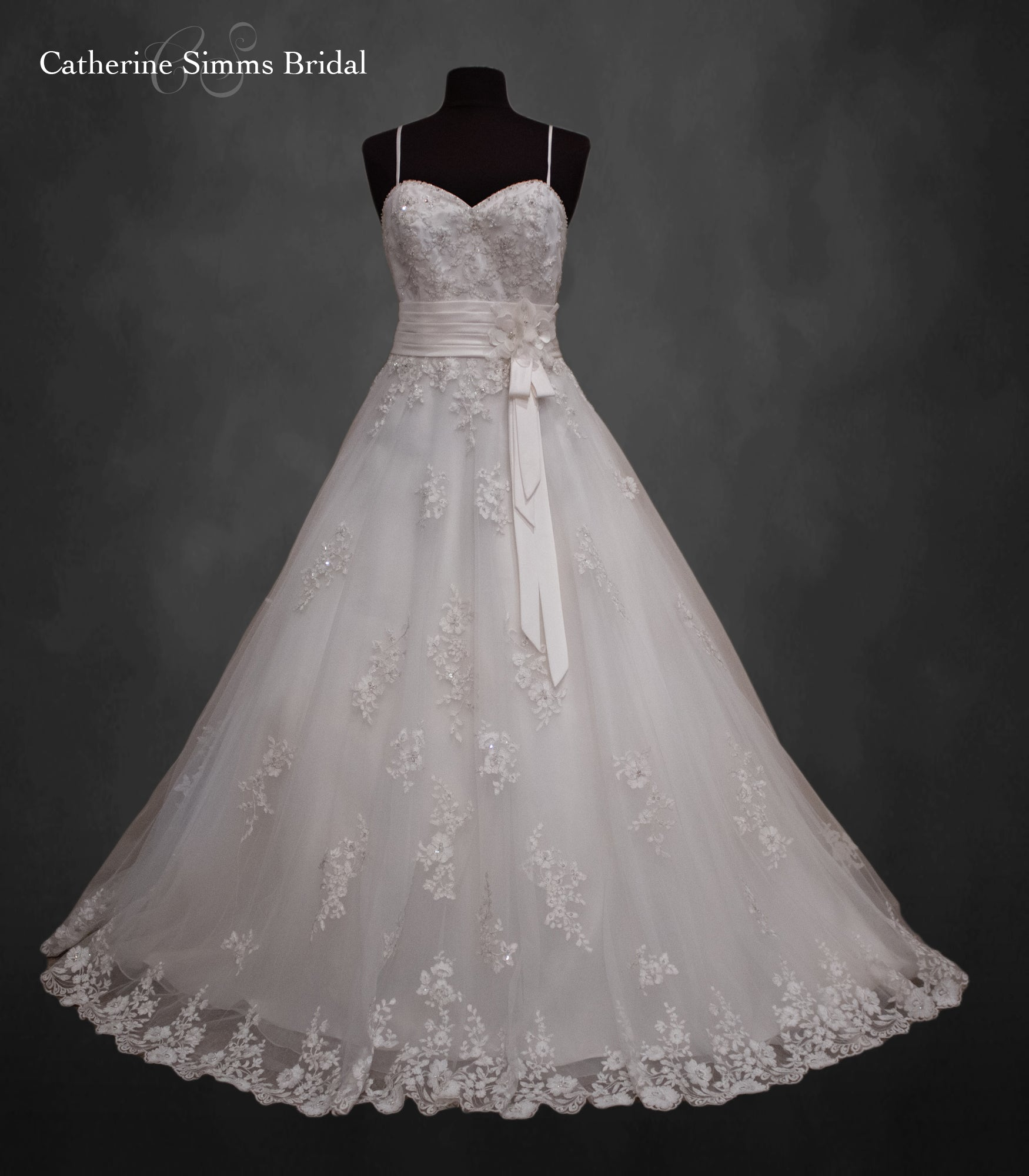 Lace Empire waist Ballgown