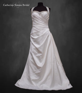 Beaded Sweetheart Ruched Gown