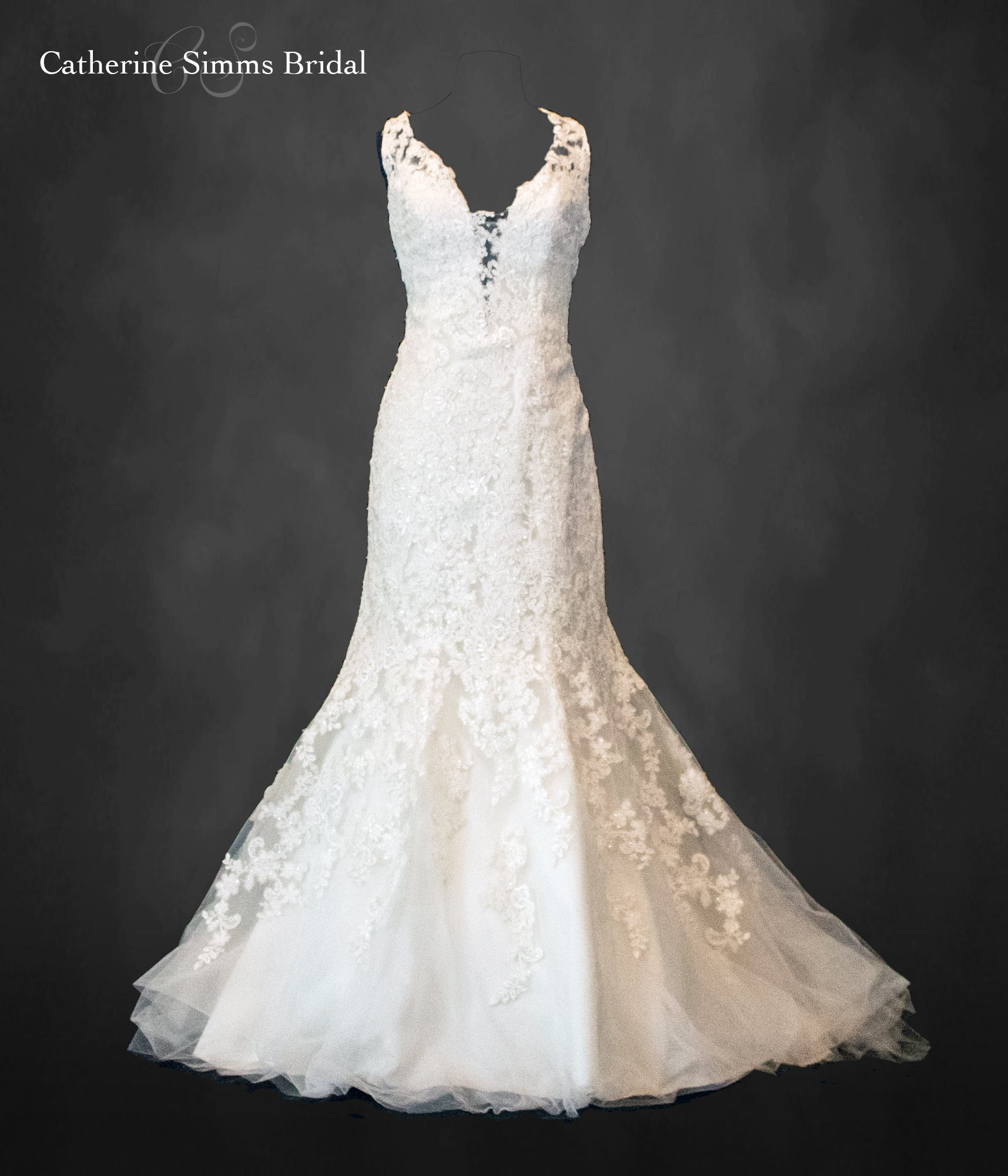Katherine Lace Fit and Flare Gown