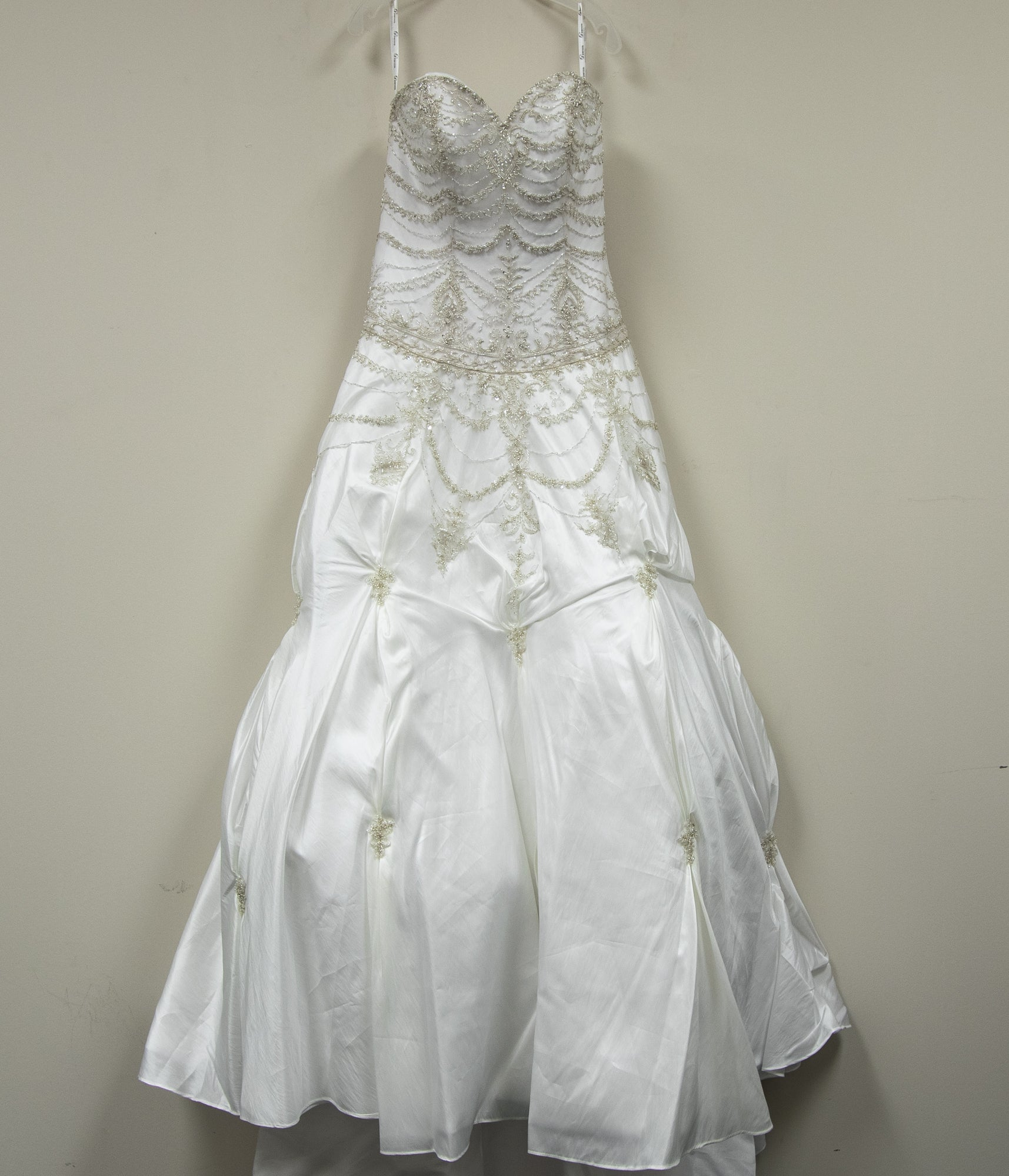 Royal Silver Beaded Gown