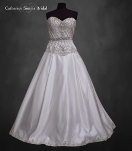 Beaded Silk Bottom Ballgown