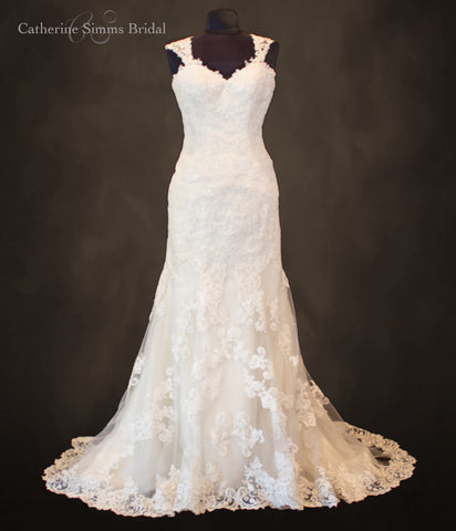 Pamela Fit and Flare Wedding Gown