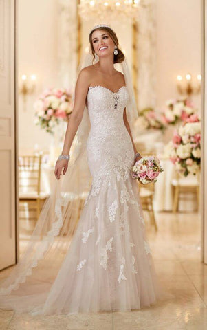 Lace Appliques Wedding Dress by Stella York