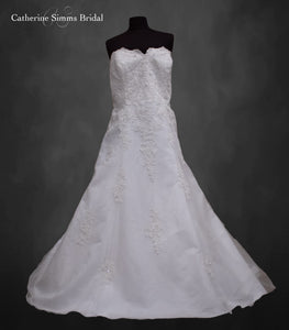 Bright White Ballgown