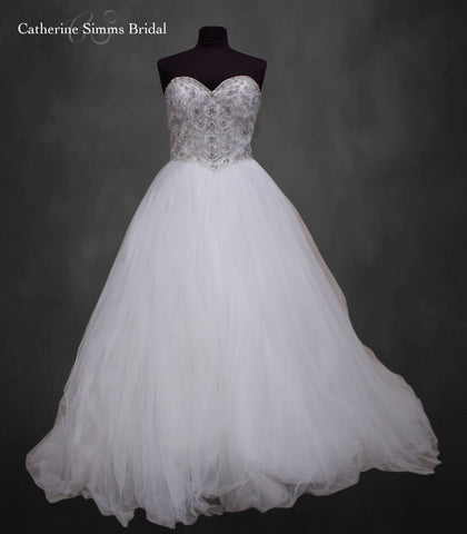 CWu Beaded Top Ballgown