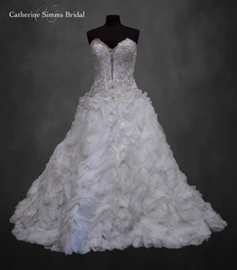 Deep Plunge Beaded Top Ballgown