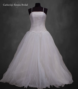 Cream Tulle Bottom Ballgown