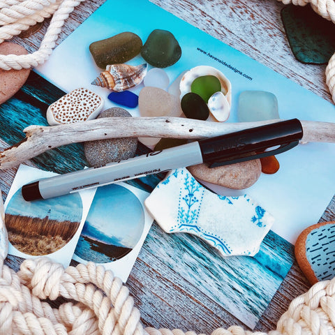 Havenside Designs Nova Scotia Sea Glass DIY Art Kit